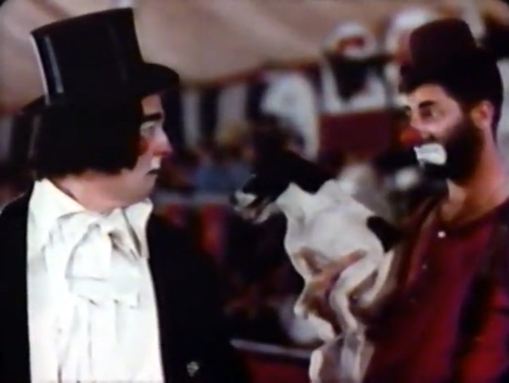 Puffo the Clown jealous of the new clown Jericho (Jerry Lewis)