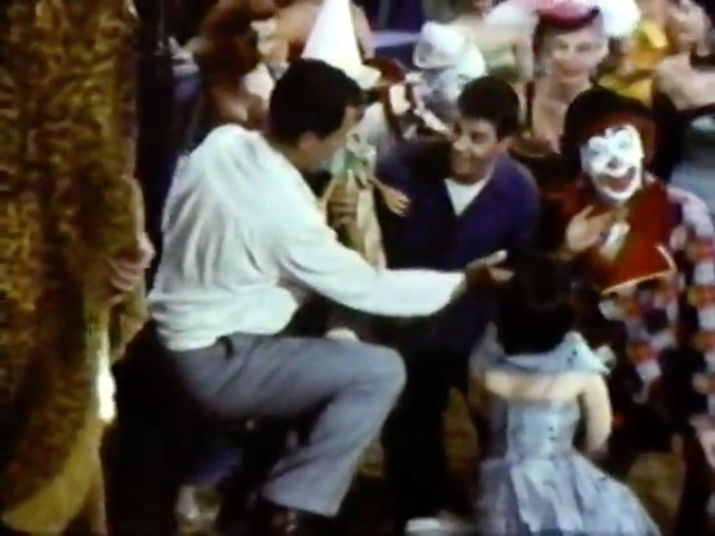 "Singing ""Hey, Punchinello"" - the face of every clown's a work of art …"
