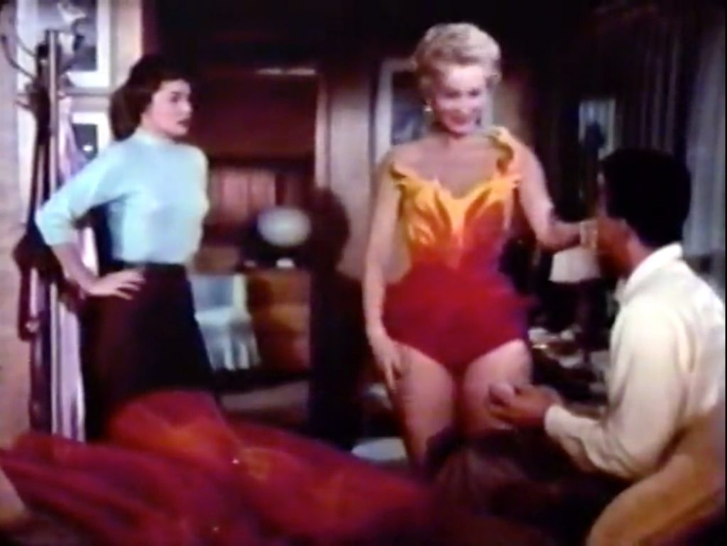 "Saadia, dictating to Joanne Dru and Dean Martin: ""Whatever he wants, I want"""