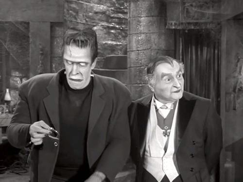 Follow That Munster - Herman Munster and Grandpa as detectives?
