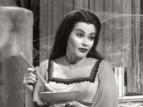 Tin Can Man - Lily Munster cooking