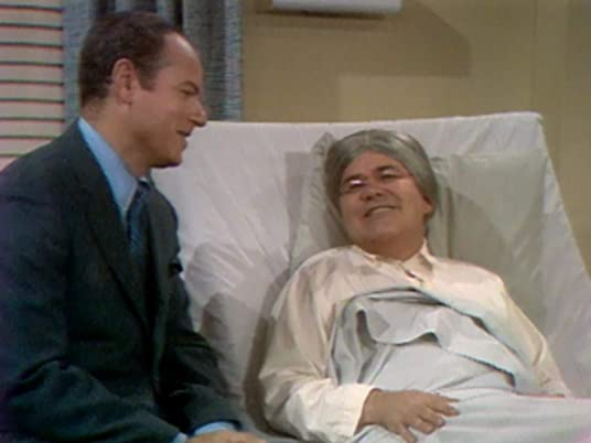 The Carol Burnett Show, season 1, episode 20 - Harvey Korman interviewing Ma Cricket (Jonathon Winters) in the hospital - she's just given birth!