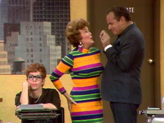 The Carol Burnett Show, season 1, episode 8 - Carol Burnett with office rival Nanette Fabray, and office manager Harvey Korman