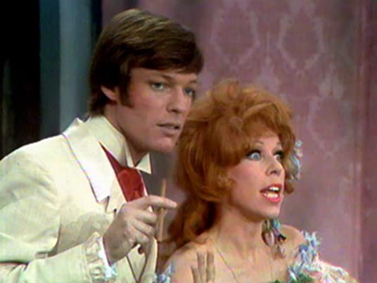"The Carol Burnett Show, season 1, episode 9 - Richard Chamberlain and Carol Burnett in ""Gone with the Breeze"""