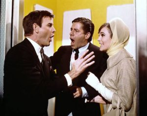 """James Best with Jerry Lewis and Janet Leigh in """"Three on a Couch"""""""