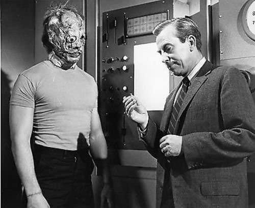 Teenage Frankenstein with his maker, Professor Frankenstein