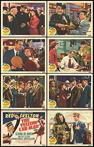 """Lobby cards for """"The Yellow Cab Man"""""""