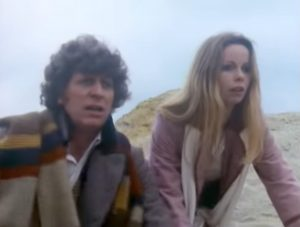 """The Doctor (Tom Baker) and Romana (Lalla Ward) in """"Destiny of the Daleks"""""""