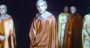 "Michael Gough as Master of the Moon, leader of the invading aliens in ""They Came from Beyond Space"""