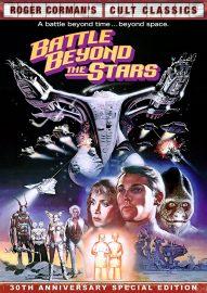 Battle Beyond the Stars (1980), starring Richard Thomas, John Saxon, Morgan Woodward, George Peppard, Sybil Danning, Robert Vaughn directed by Roger Corman