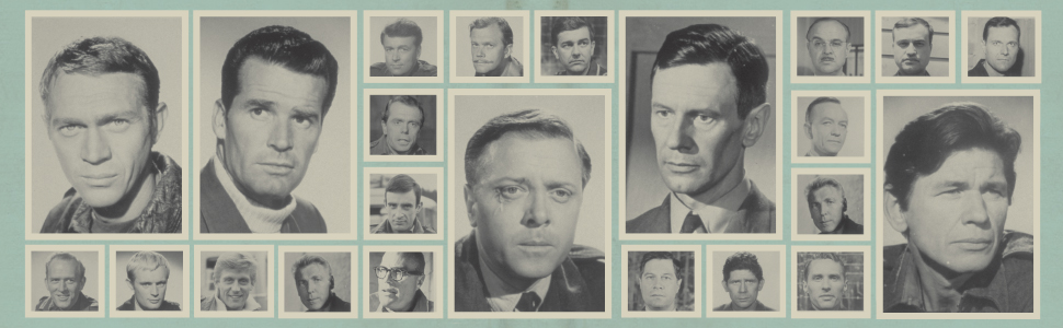 """Photo of the large cast of """"The Great Escape"""""""
