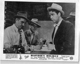 "Dagwood in the gambling den in ""Blondie's Holiday"""
