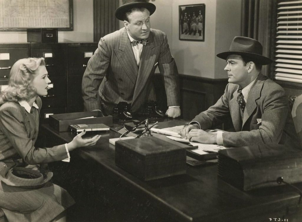 Anne Gwynne, Lyle Latell & Ralph Byrd in Dick Tracy Meets Gruesome