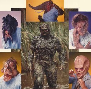 """Swamp Thing and Arcane's Un-Men in """"Return of the Swamp Thing"""""""