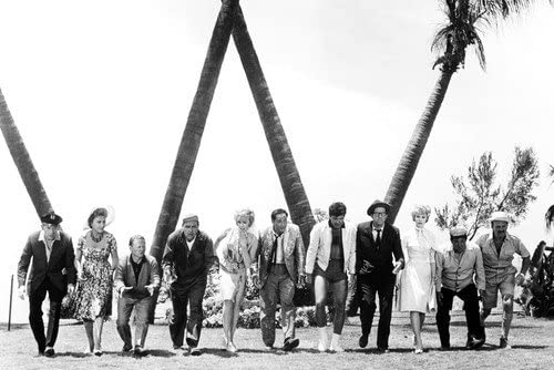 It's a Mad Mad Mad Mad World - toward the end, the cast of treasure hunters nearly find it - note the palm trees …