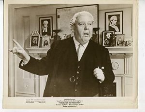 """Charles Laughton as Sir Wilfrid in """"Witness for the Prosecution"""""""