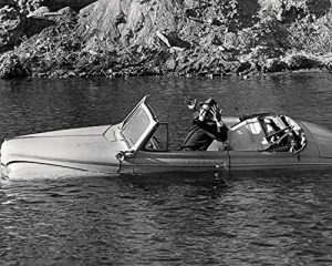 Phil Silvers in a sinking car