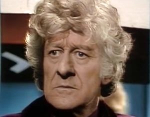 """John Pertwee as the Third Doctor in """"Planet of the Daleks"""""""